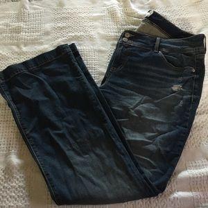 Torrid distressed boot cut flare jeans 👖